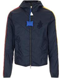 Moncler Genius Moncler X Jw Anderson Logo Embroidered Jacket - Blue