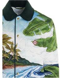 CASABLANCA Colour Other Materials Outerwear Jacket - Green