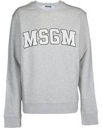 MSGM Logo University Sweatshirt - Gray