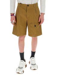 Prada Wide Leg Shorts - Brown