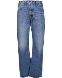 Maison Margiela Faded Straight-leg Jeans - Blue