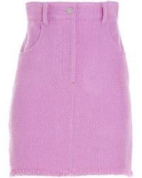 MSGM 3042mdd122x21730612 Cotton Skirt - Pink