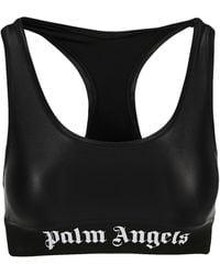 Palm Angels Logo Sports Bra - Black