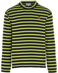 KENZO Tiger Embroidered Long Sleeved-top - Green