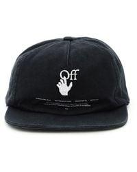 Off-White c/o Virgil Abloh Hand Off Logo Baseball Cap - Black