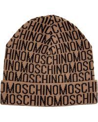 Moschino Logo Knit Beanie - Brown