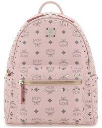 MCM Stark Studded Backpack - Pink
