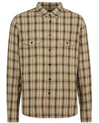 Saint Laurent - Checked Print Shirt - Lyst