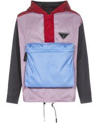 Prada Pocket Detail Colour-block Hoodie - Multicolor