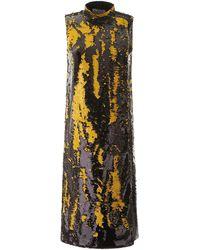 Ganni Sequined Midi Dress - Multicolour