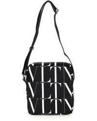 Valentino Garavani Vltn Logo-print Camera Bag - Black