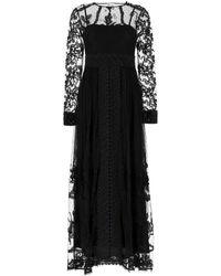 RED Valentino Redvalentino Lace Maxi Dress - Black