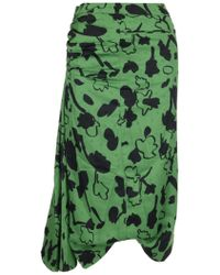 Rejina Pyo Printed Midi Skirt - Green