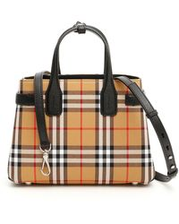 Burberry Checked Banner Bag - Multicolor