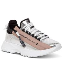 Givenchy Spectre Low Runners Sneakers In Metalized Ripstop With Zip - Multicolour