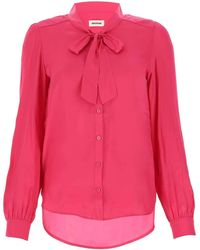 Zadig & Voltaire Taos Satin Blouse - Pink