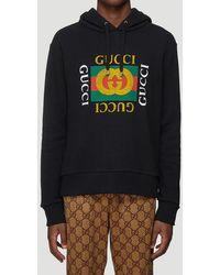Gucci Fake Logo Oth Hoodie - Black