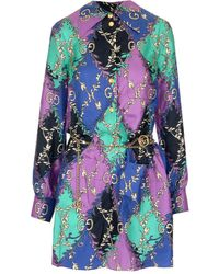 Gucci All Over Logo Print Shirt Dress - Multicolour