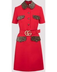 Gucci GG Belted Mini Dress - Red