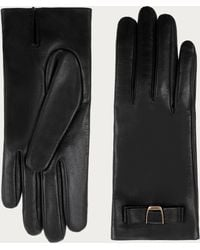 Bally - Leather Gloves Women's Nappa Leather Gloves In Black - Lyst