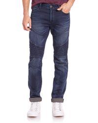True Religion Rocco Slim-Fit Moto Jeans blue - Lyst