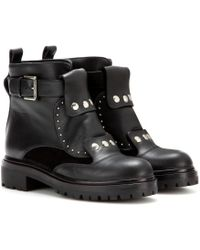 Alexander McQueen Leather Ankle Boots - Lyst