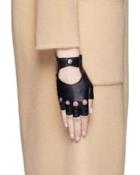 Georges Morand | Lamb Leather Fingerless Gloves | Lyst