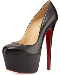 Christian Louboutin Victoria Leather Platform Red Sole Pump - Lyst