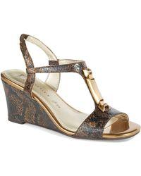 Anne Klein Edlynn Wedge Sandals - Lyst