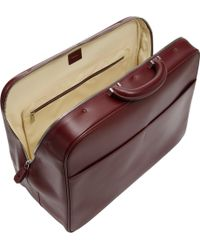 Valextra Topzip Briefcase - Red