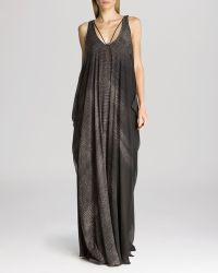 Halston Heritage Maxi Dress - Sleeveless Print Flowing - Lyst