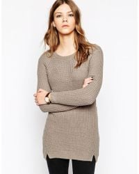 Y.A.S Long Sleeve Knit Sweater - Lyst