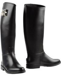 Philipp Plein Rubber Riding Boots - Black