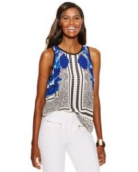 Inc International Concepts Sleeveless Printed Shell - Lyst