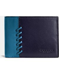 COACH | Rip And Repair Slim Billfold Wallet In Sport Calf Leather | Lyst