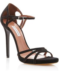 Tabitha Simmons Manor Suede Sandals - Lyst