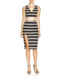 Olivaceous - Striped Crop Top - Lyst