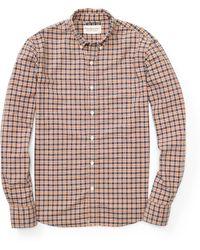 Denim & Supply Ralph Lauren Plaid Cotton Oxford Shirt - Brown
