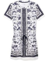 Tory Burch Drawstring Waist T-Shirt Dress - Lyst