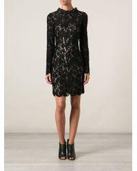 Lanvin Lace Cocktail Dress - Lyst