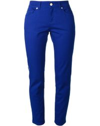 Alexander McQueen Pipe Trimmed Trousers - Lyst