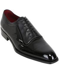 A.testoni Patent Nappa Leather Oxford Shoes - Lyst