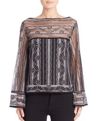 Nanette Lepore | Misty Morning Lace Top | Lyst