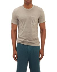 James Perse Sueded Pocket Tshirt - Lyst