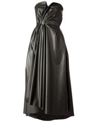 Lanvin Black Faux-leather Dress - Lyst