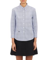 Band of Outsiders - Cropped & Fitted Shirt - Lyst