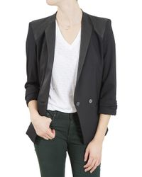 Helmut Lang Leather Combo Jacket - Lyst