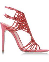 Rene Caovilla Pink Sandals - Lyst
