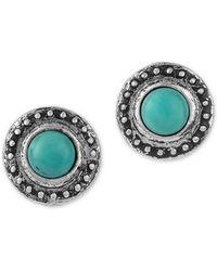 Sam Edelman Turquoise Textured Stud Earrings - Blue