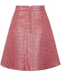 Markus Lupfer Iridescent Tweed Charlotte Skirt - Lyst